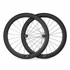 700C 60mm Road Bike Bicycle Tubular Clincher Straight Pull Full Carbon Wheels