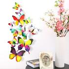12pcs DIY clothes decoration 3D Butterfly wall Sticker curtain decor safety-pin
