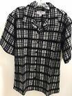 LaVane Men's Short Sleeve Button Up Dressy/Casual Shirt Black 706 Checkerd New