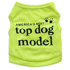 Summer Dog Vest Pet Puppy T shirt Cat Clothes Clothing for yorkie Schnauzer Dog