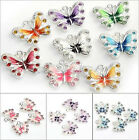 5/10 pcs Women's Girl Multicolor Butterfly Crystal Necklace Pendant Charms