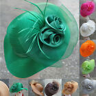 Satin Ribbon Women Dress Church Bridal Wedding Kentucky Derby Party Hats A433
