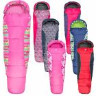Trespass Bunka Camping 2-3 season Mummy Junior Kids Sleeping Bag Boys Girls