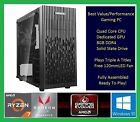 AMD Fast Custom Built 3.9GHz Turbo 8GB  RAM 1TB HDMI Gaming Desktop PC Computer