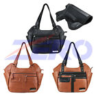 VISM Leather Concealed Carry Gun Purse CCW Hobo Bag Holster Concealment Handbag