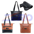 VISM Leather Concealed Carry Gun Purse CCW Tote Bag Holster