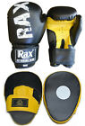 Kids  Curved Focus Pads With Boxing Gloves Hook and Jab Punch Bag Kick MMA R A X