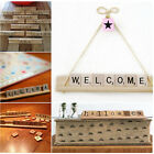 Wooden Scrabble Racks Holder Replacement Numbers Letters Arts Crafts Board Games