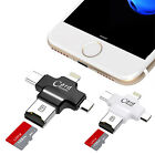 4in1 iOS Micro USB Strain C OTG Micro SD TF Card Reader for Android iPhone 7 6S SE