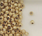 14k Gold Filled 5mm Corrugated Round Spacer Beads, Choice of Lot Size & Price