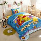 *** Happy Winnie the Pooh Single Bed Quilt Cover Set - Flat or Fitted Sheet ***