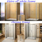 Sliding Shower Enclosure Door Conner Entry Side Panel Safety Glass Tray Waste