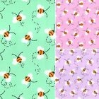 Printed Polyester Cotton - Bumble Bees - 7504