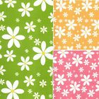 Printed Polyester Cotton - Large Floral Daisy - 7491