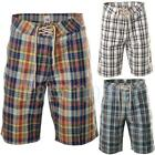 Designer Checkered Summer Zip Fly Cotton Shorts  Mens Size