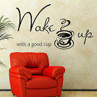 KITCHEN WALL STICKERS Wall Quotes WAKE UP Wall Stickers Vinyl Wall Art  N74