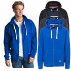 Trespass Wreath Mens Full Zip Hoodie Cotton Blend Jumper in Blue Black & Navy