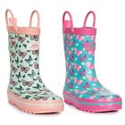 Trespass  Butterflie Girls Waterproof Wellies Wellington Boots with Butterfly