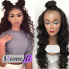 Long Body Wave 100% Brazilian Human Hair curly  Lace Front Full Wigs Baby Hair