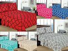 "Geometric Printed 4-Pcs Sheet Set 16"" Deep Pocket Bed Sheets Microfiber Bedding"