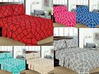 "Geometric Printed 4-Pcs Sheet Set 16"" Deep Pocket Bed Sheets Microfiber Bedding image"