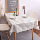 High Quality Cotton Linen Print Check Grid Customed Tablecloth Cover Table Deco