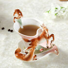 New Horse Enamel Coffee Cup Porcelain Tea Milk Mug Set Bone China Creative Gift