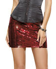 New Dreamgirl 9380 Rouge Falling Star Sequin Club Skirt