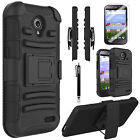 ZTE Allstar LTE Case, Dual Layers Belt Clip Combo With Screen protector+ Stylus