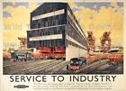 Vintage Railway POSTERS: SERVICE TO INDUSTRY :  A2 & A3 (223)