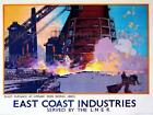 Vintage Railway POSTERS:  EAST COAST INDUSTRIES :  A2 & A3 (198)
