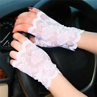 Fashion Women Sexy Lace Sunscreen Fingerless Gloves Driving Anti-UV Party Gloves