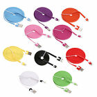 2M 6FT Flat Noodle USB Data Sync Charger Cable For iPod Touch iPhone iPad 2 3