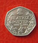 CIRCULATED 2016 150TH ANNIVERSARY 50P COIN BEATRIX POTTER FIFTY PENCE COIN 50P