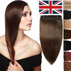 Deluxe Clip in Remy Human Hair Extensions 3/4 Full Head One Piece Weft DIY A332
