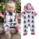Newborn Baby Girls Boys Hoodie Jumpsuit Romper Bodysuit Clothes Playsuit Outfits