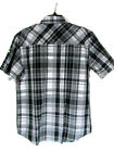 Men's SS Shirt Size Large Western Southpole Plaid Gray