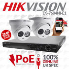 NVR DS-7604NI-E1 UK FIRMWARE & 2x Hikvision DS-2CD2320-I Dome 30m IR 1080p PoE