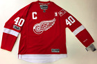 HENRIK ZETTERBERG DETROIT RED WINGS HOME 2017 MR. I HOWE PATCH REEBOK JERSEY $224.99 USD on eBay