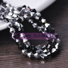 New 50-100pcs 6mm Bicone Faceted Crystal Glass Loose Spacer Beads Jewelry Making
