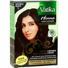 DABUR VATIKA BLACK  BROWN DARK BROWN BURGUNDY HENNA HAIR COLOUR POWDER (6 X10G)
