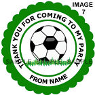 Personalised Football stickers, For Sweet Cones etc - 3 Sizes - Ref MX05-07