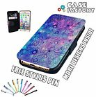 Water Paint Flowers Dream Catcher Art  - Leather Flip Wallet Phone Case Cover