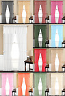 5 Piece Voile Sheer Panels Valance Window Curtain with Tieba