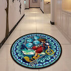 Kingdom Hearts Glass Circle Velboa Floor Rug Carpet Room Doormat Non-slip Mat #5