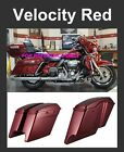 "Velocity Red 4.5"" Stretch Extended Saddlebags fit 14-17 Harley Touring Street"