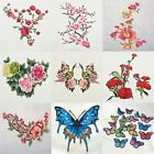 Embroidered Flower Butterfly Applique Iron on Patch Clothes