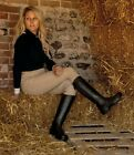 Rhinegold Kentucky Long Leather Riding Boots Ladies Sizes 3-8