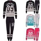 New Womens Ladies Sports London 09 Fitness Jogging Full Top Bottom Tracksuits