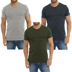 Designer Plain Zip Chest Long Line T-Shirt  Mens Size